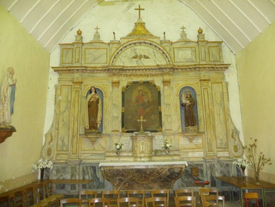 retable et tableau de l'autel du Rosaire