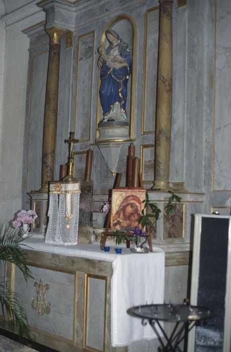 retable de la chapelle nord, vue partielle