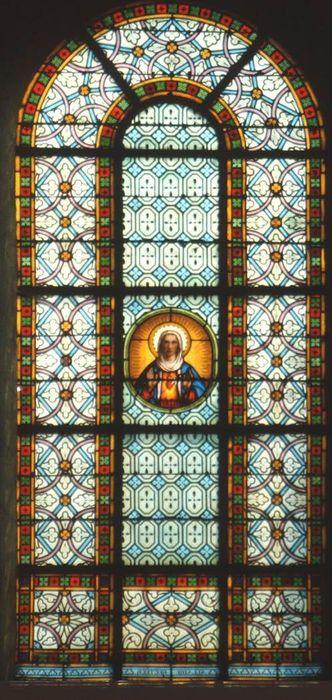 verrière Sacré-Coeur de la Vierge (baie 3)