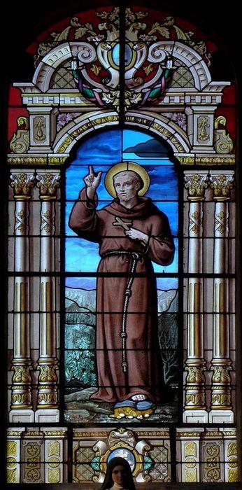 verrière : Saint François d'Assise