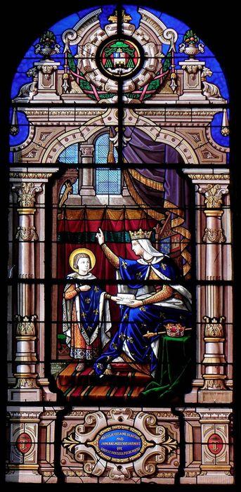 verrière : Blanche de Castille et saint Louis