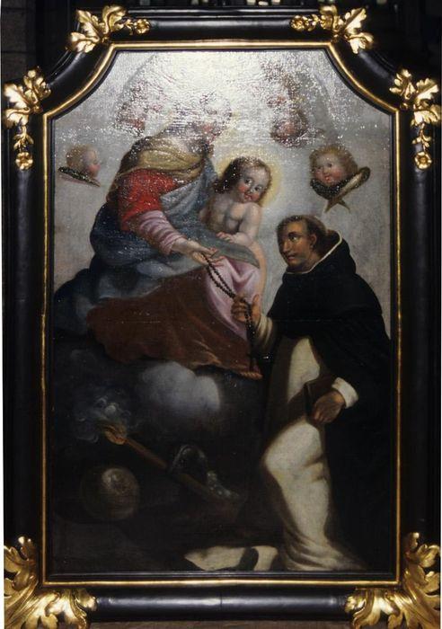 Tableau, cadre : Institution du rosaire
