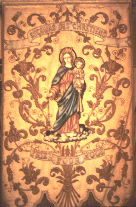 bannière de procession : Vierge à l'Enfant