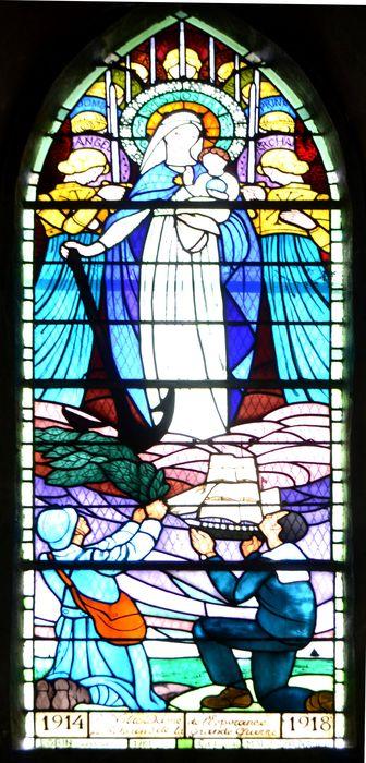 verrière ex-voto : Notre-Dame de l'Espérance
