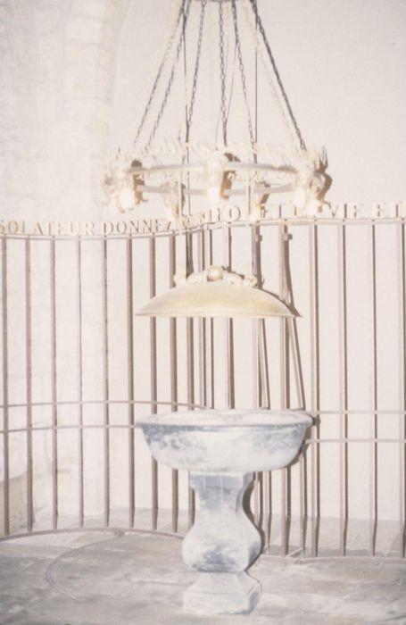 fonts baptismaux, couvercle, clôture des fonts baptismaux (grille)