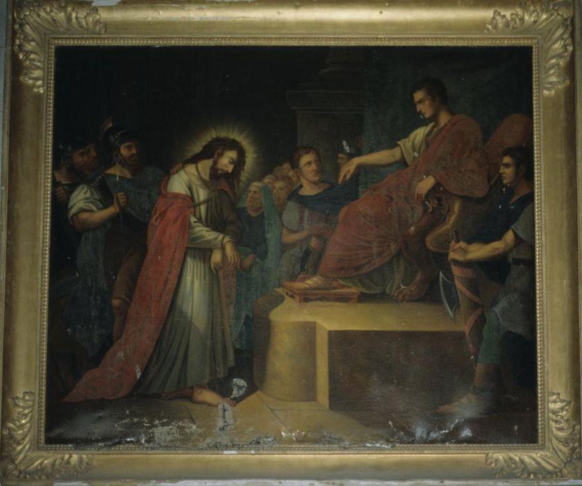 chemin de croix: Détail de l'étape 1 : le Christ est jugé et condamné