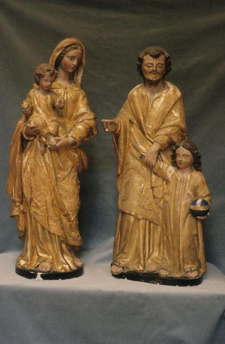 groupes sculptés : Saint Joseph et l'Enfant Jésus, Vierge à l'Enfant