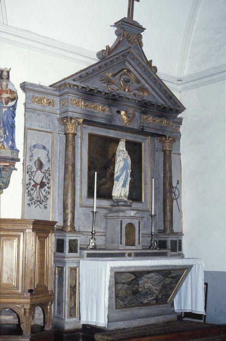 autel de la Vierge, retable, tableau : Vierge à l'Enfant