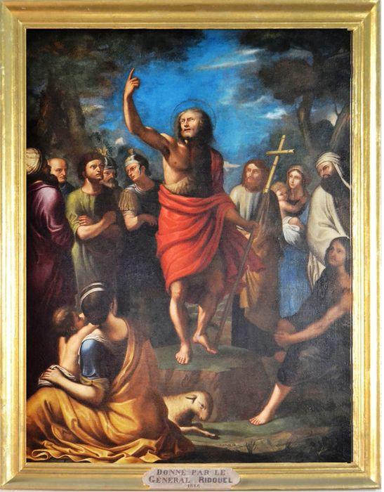 tableau : Prédication de saint Jean-Baptiste