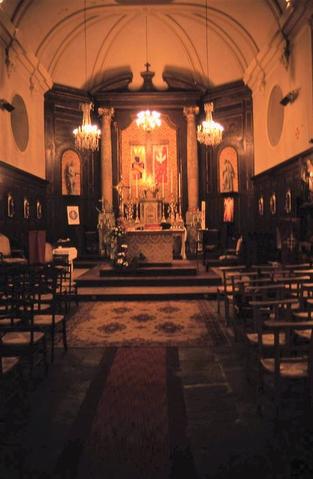 maître-autel, retable, statues : Saint Jean-Baptiste, Saint Gilles