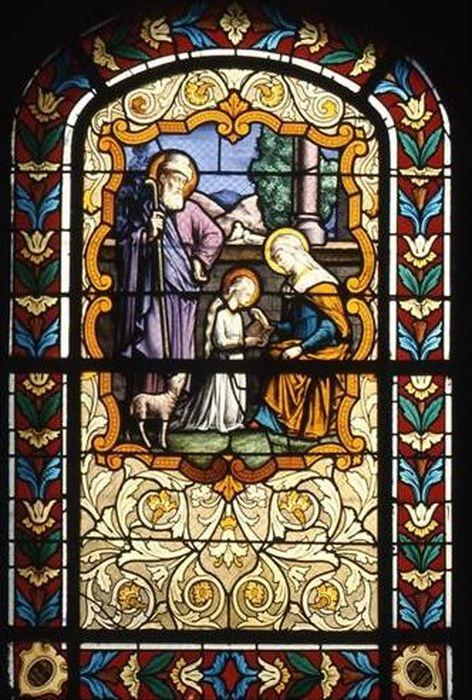 verrière : Education de la Vierge (baie 4)