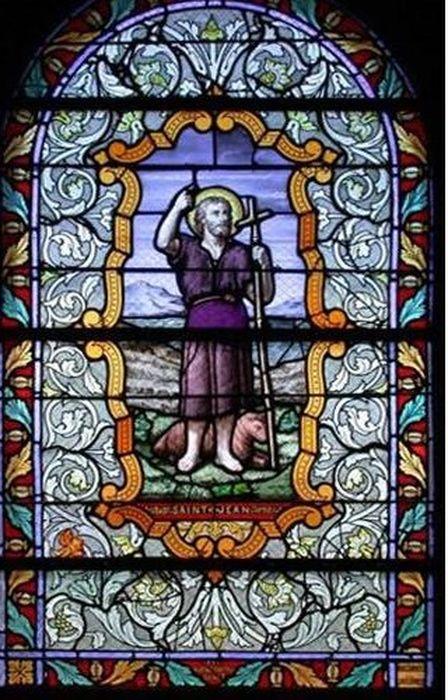 verrière : Saint Jean-Baptiste (baie 6)