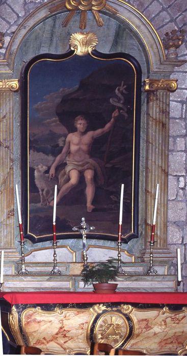autel de saint Jean-Baptiste, retable, tableau : Saint Jean-Baptiste