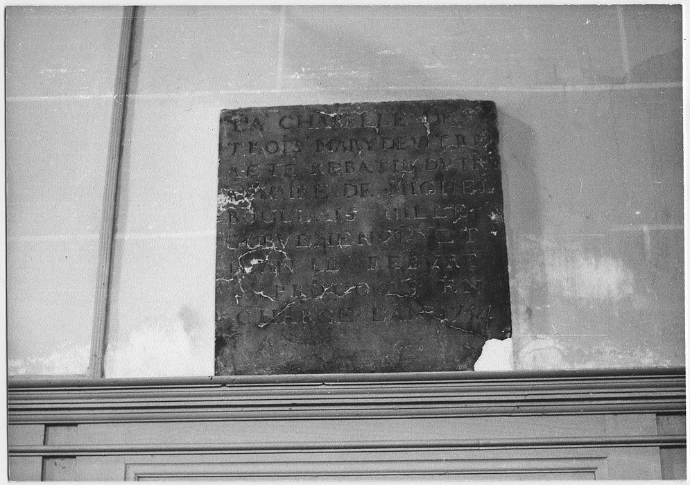 plaque commémorative (inscription)