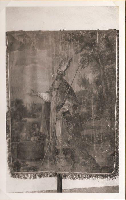 Bannière de procession : Saint Jean-Baptiste et saint Nicolas