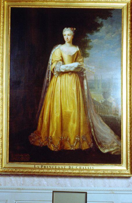 Tableau, cadre : Portrait en pied d'Anne-Françoise de Rochechouart, princesse de Chalais