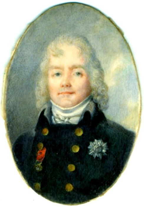 miniature : Talleyrand en habit bleu, vue générale