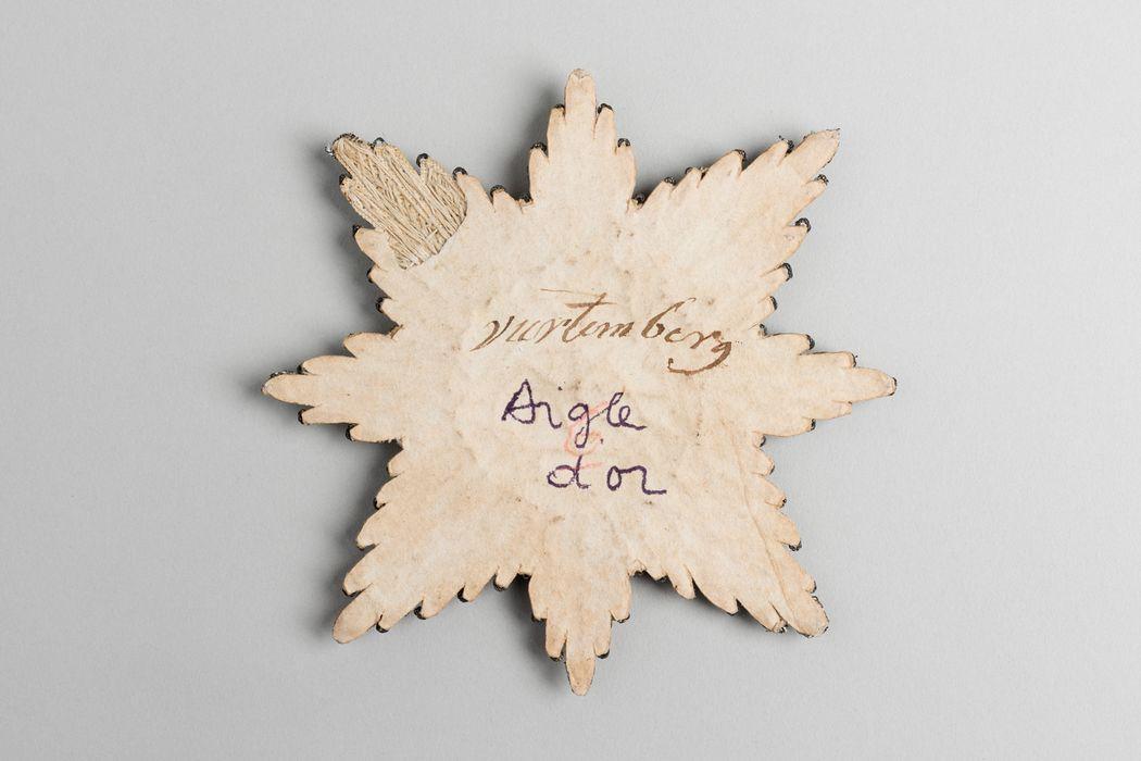 Décorations du prince de Talleyrand (plaque) : Ordre de l'Aigle d'Or de Wurtemberg