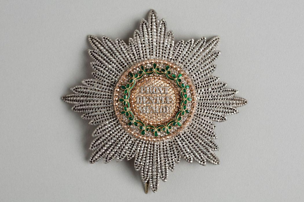 Décorations du prince de Talleyrand (plaque) : Couronne de Saxe