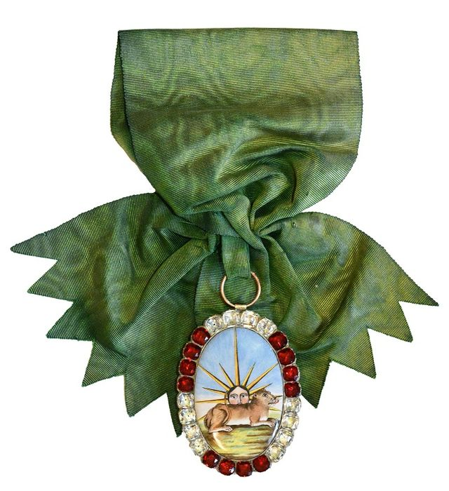 Décorations du prince de Talleyrand (grand-croix) : Ordre du Soleil et du Lion de Perse