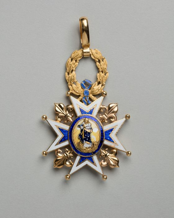 décoration du prince de Talleyrand (croix de commandeur) : Ordre de Charles III d'Espagne, vue générale