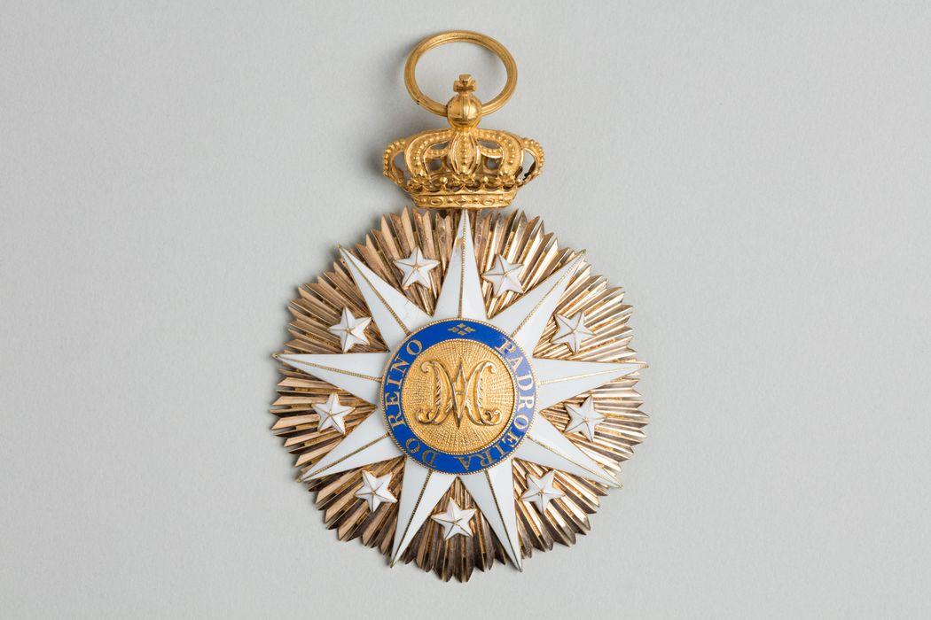 Décorations du prince de Talleyrand (plaque) : Ordre de Notre-Dame de la Conception de Villaviciosa du Portugal