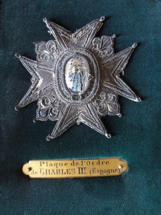 Décorations du prince de Talleyrand (plaque brodée) : Ordre de Charles III d'Espagne