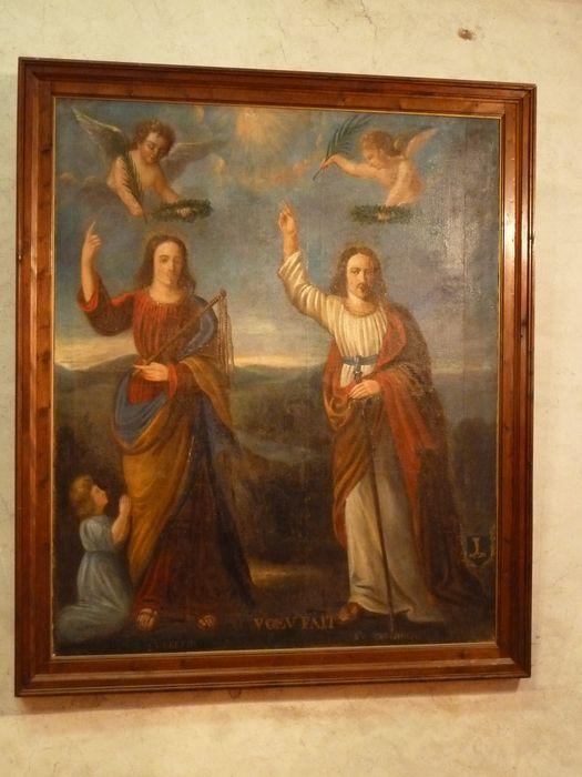 Tableau (ex-voto) : Deux saints, saint Paul et saint Pierre