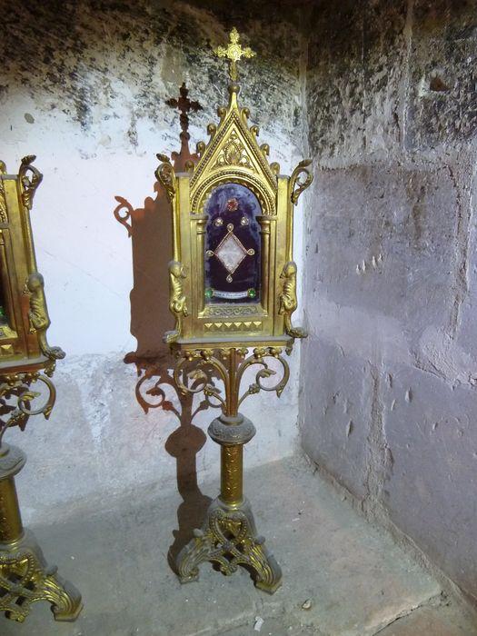 Reliquaire-monstrance : Saint Priscillari, sainte Candidae, sainte Aureliae, saint Clémentis