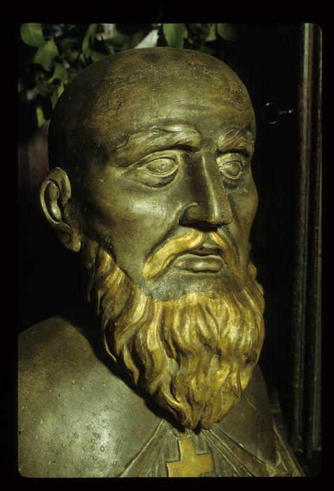 Buste-reliquaire et son socle : Saint Sylvain