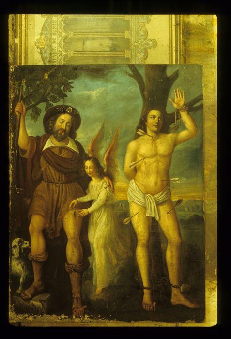 Tableau : Saint Sébastien et saint Roch avec un ange