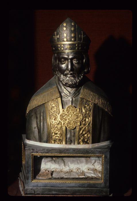 Buste-reliquaire : Saint évêque (saint Sylvestre ?)