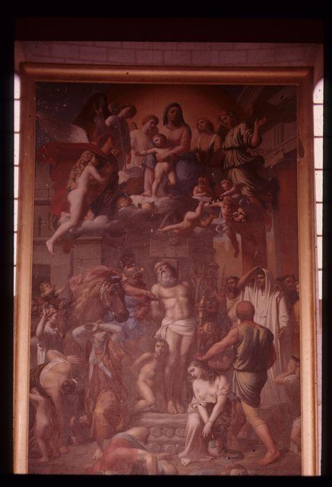 tableau : Le Martyre de saint Polycarpe et son cadre