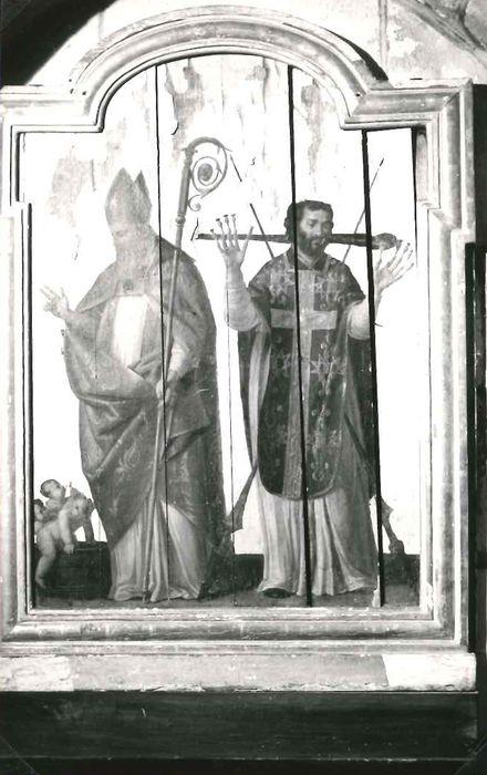 Tableau : Saint Nicolas et un prêtre martyr