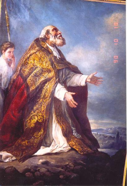 Tableau : Saint Martin à la fin de sa vie