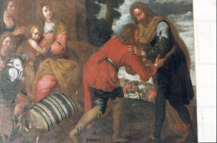 Tableau : Le Retour de l'enfant prodigue (Reconnaissance du droit d'aînesse par Isaac)