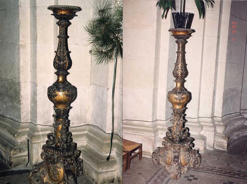 2 chandeliers (torchères)