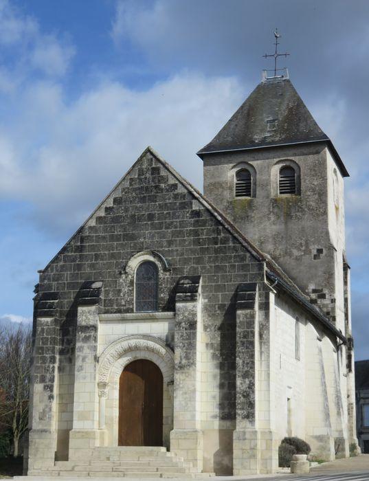 Eglise  Saint-Pierre-es-Liens: Façade occidentale, vue générale