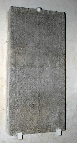 Dalle funéraire de Pierre Le Galloys et de plusieurs membres de sa famille