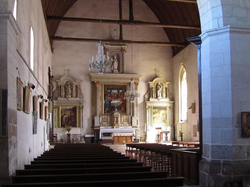 Maître-autel et son retable, tabernacle, gradin d'autel et tableau : Cène