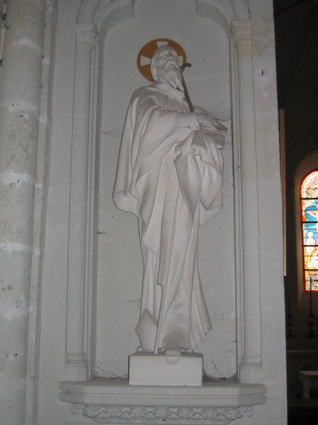 Quatre statues: Sainte Barbe, saint Jean-Baptiste, saint Hilaire et sainte Germaine de Pibrac