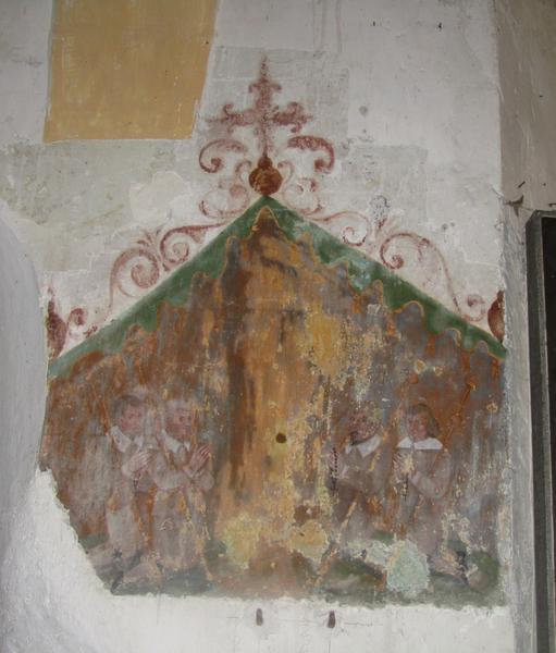Peinture monumentale : Pèlerins de Saint-Jacques