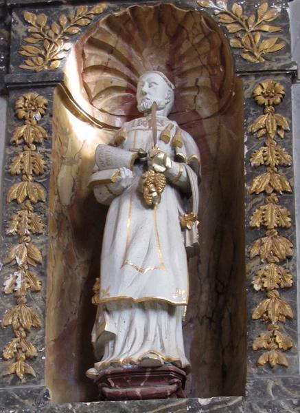 Deux statues : Saint Vincent et La Foi