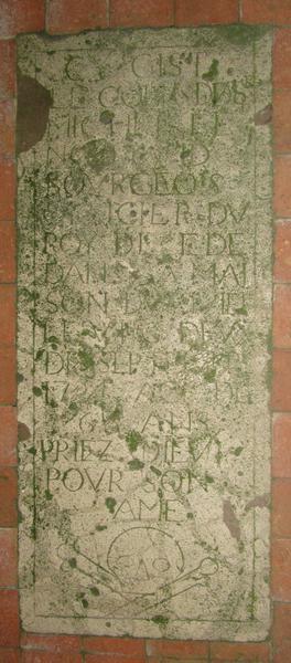Dalle funéraire de 1724