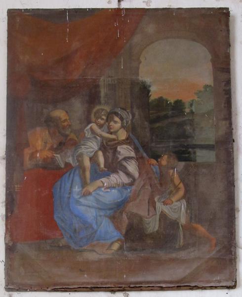 Tableau : Sainte Famille et saint Jean-Baptiste