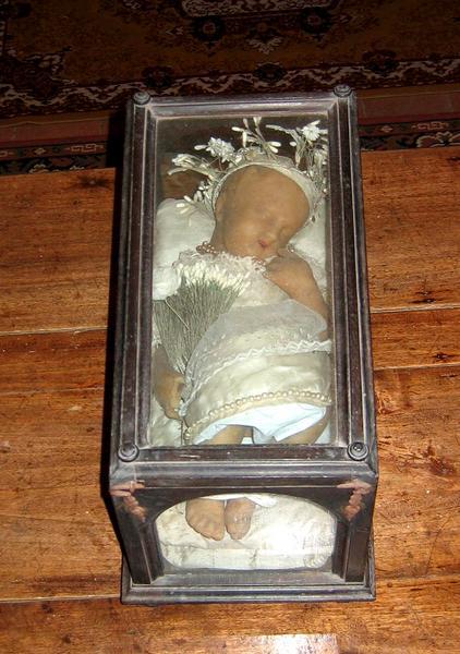 Statue et son coffret : Enfant Jésus