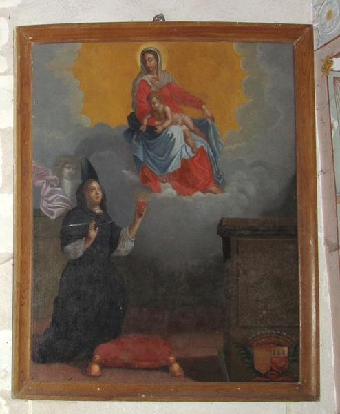 Tableau : ex-voto à la Vierge, d'une dame de la Renardière