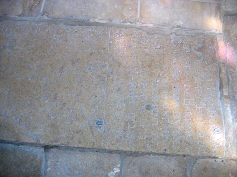 Dalle funéraire de Louis Joseph de Barbançon