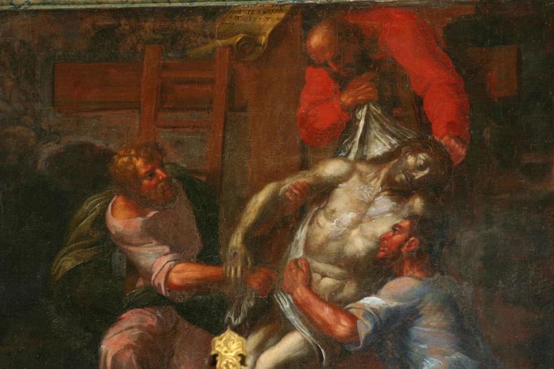 Maître-autel et retable avec relief : Père Eternel