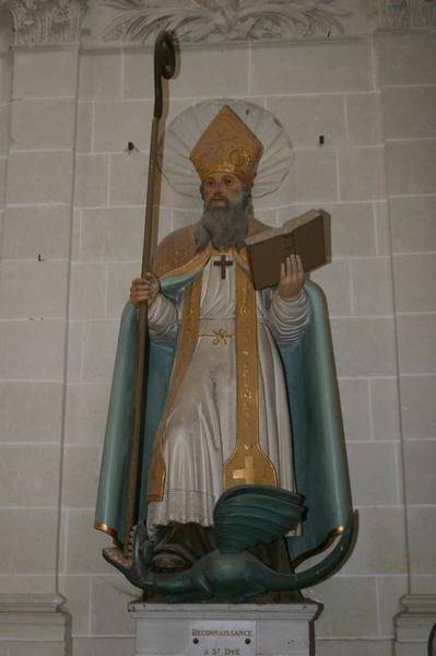 Deux statues : Saint Dyé et saint Baudemire (ou saint Baumer)